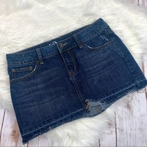Bullhead Dark Wash Denim Jean Mini Skirt